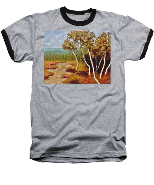 Camel Top Birches Baseball T-Shirt