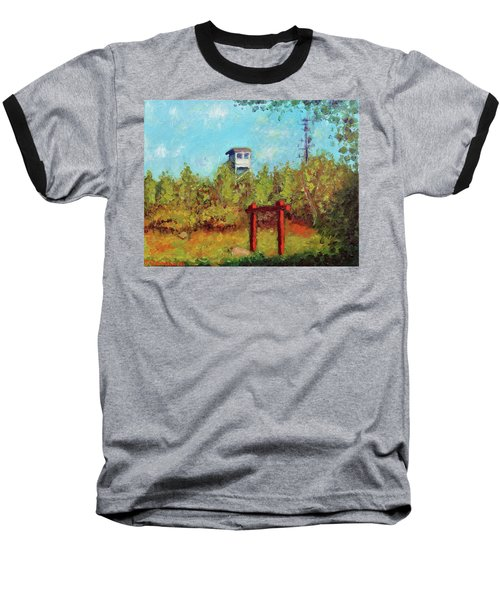 Camel Top Fire Tower Baseball T-Shirt