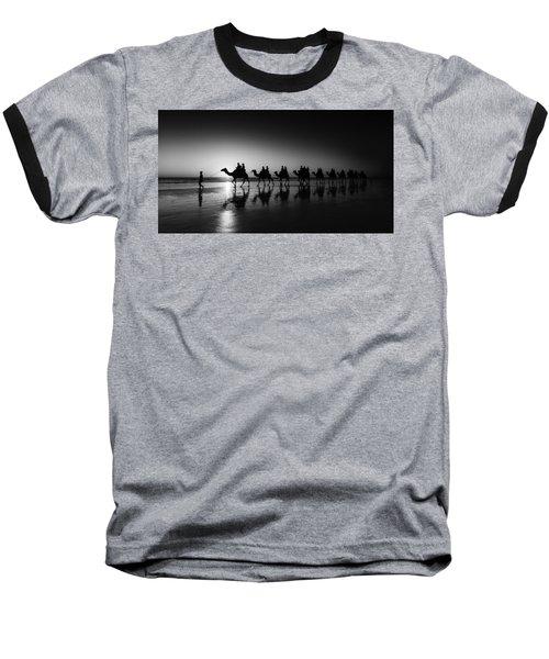 Camels On The Beach Baseball T-Shirt