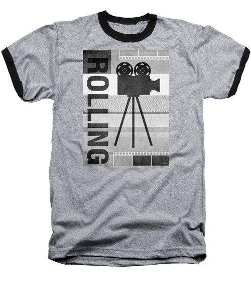 Cameras Rolling- Art By Linda Woods Baseball T-Shirt