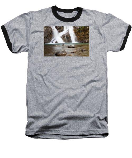Cameron Falls In Waterton Lakes National Park Baseball T-Shirt