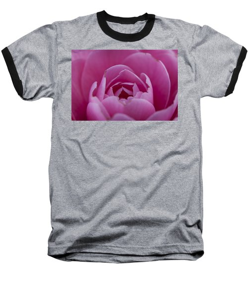 Camellia Close-up Baseball T-Shirt