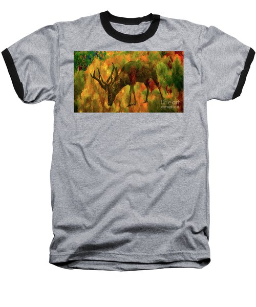 Camouflage Deer Baseball T-Shirt