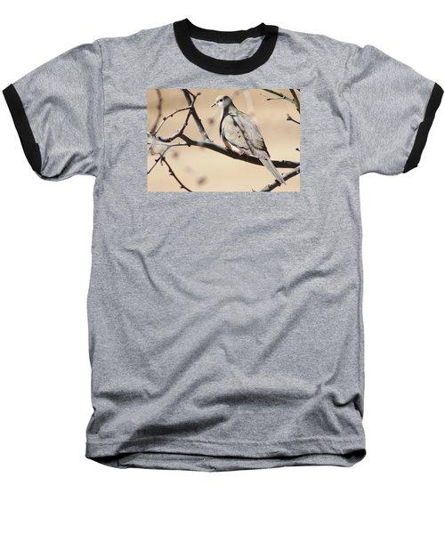 Camouflaged Mourning Dove Baseball T-Shirt