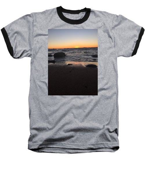 Baseball T-Shirt featuring the photograph Camp In The Fall by Paula Brown