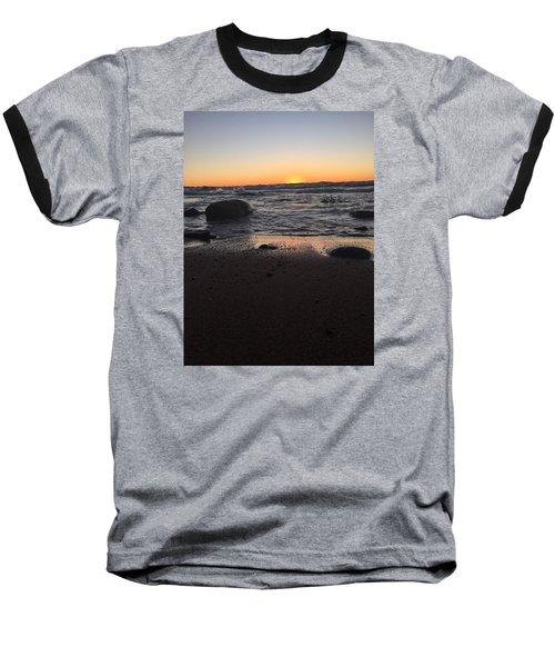 Camp In The Fall Baseball T-Shirt by Paula Brown