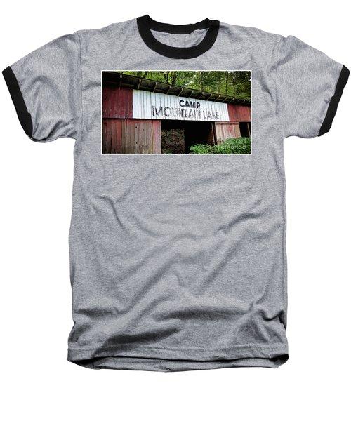 Camp Mountain Lake Horse Stables - Vintage America Baseball T-Shirt