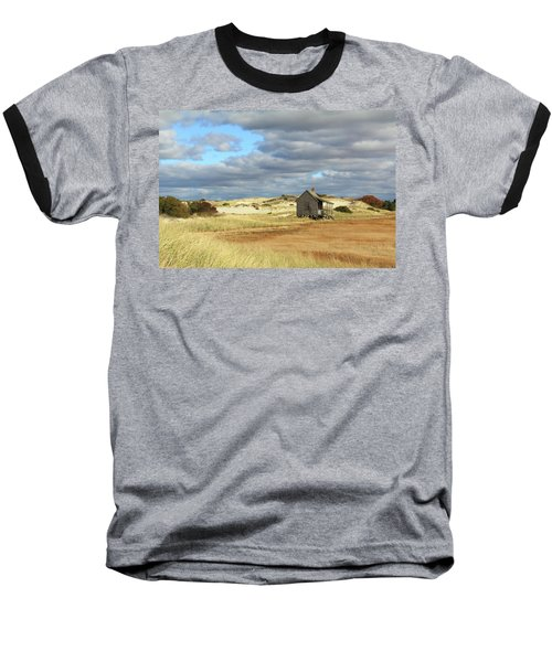 Baseball T-Shirt featuring the photograph Camp On The Marsh And Dunes by Roupen  Baker