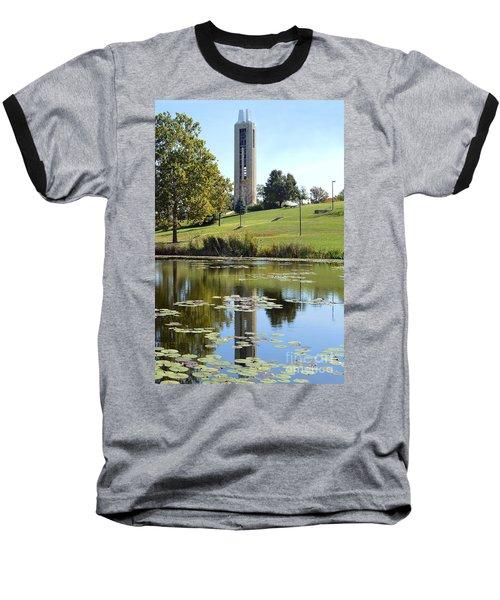 Campanile Reflection In Kansas Baseball T-Shirt