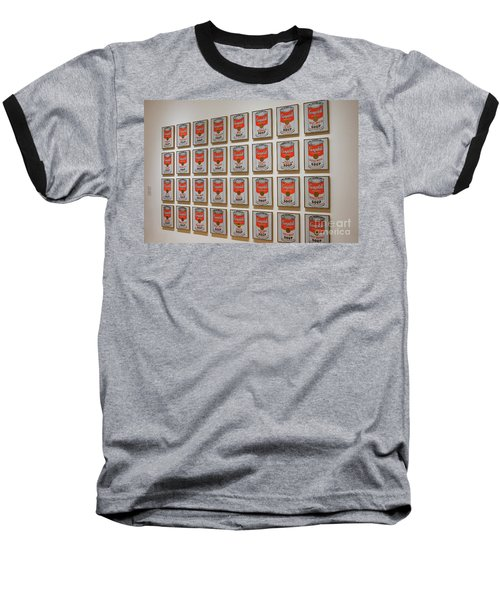 Baseball T-Shirt featuring the photograph Campbell Soup By Warhol by Patricia Hofmeester