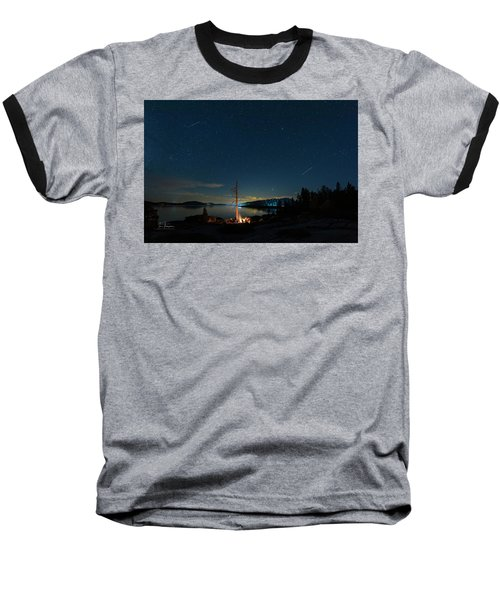 Baseball T-Shirt featuring the photograph Campfire 1 by Jim Thompson