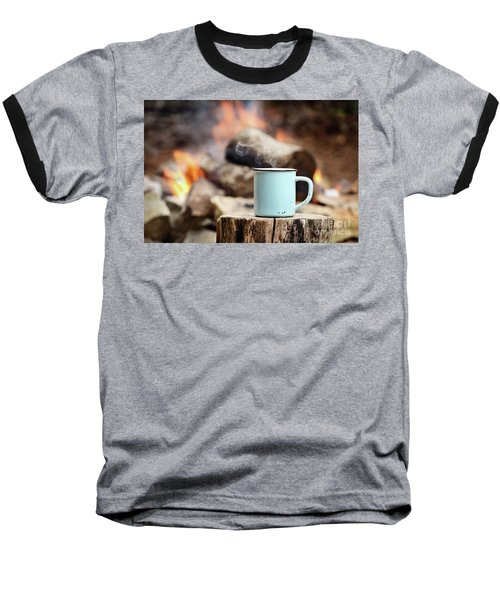 Campfire Coffee Baseball T-Shirt