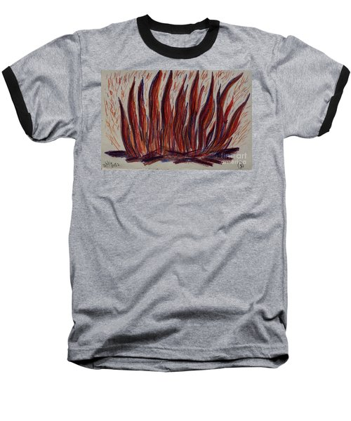 Campfire Flames Baseball T-Shirt by Theresa Willingham