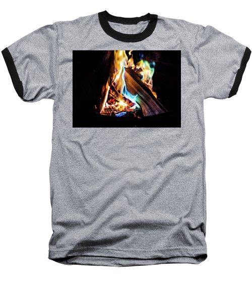 Campfire In July Baseball T-Shirt