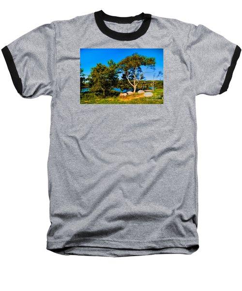 Campfire Lake Baseball T-Shirt
