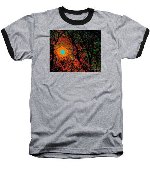 Campfire Sparks Baseball T-Shirt by Jesse Ciazza