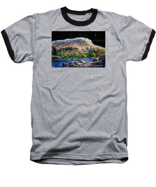 Camping In The Moonlight Baseball T-Shirt