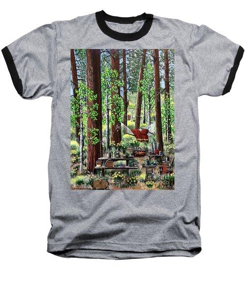Camping Paradise Baseball T-Shirt