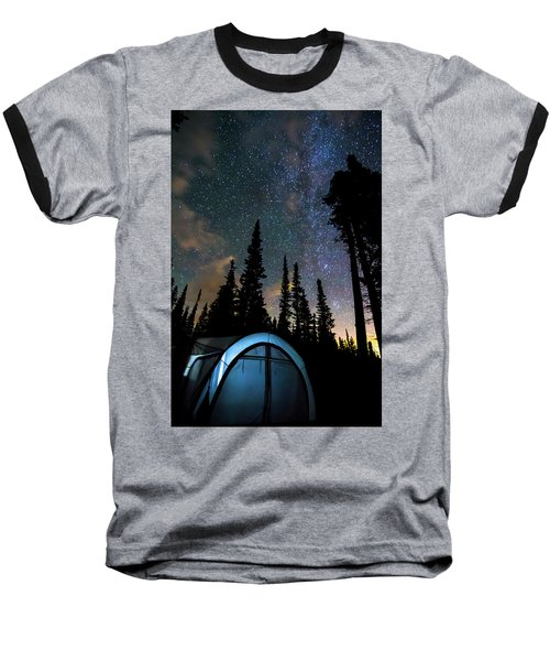 Baseball T-Shirt featuring the photograph Camping Star Light Star Bright by James BO Insogna