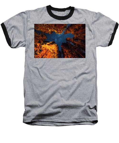 Camping Under The Stars  Baseball T-Shirt by Alpha Wanderlust