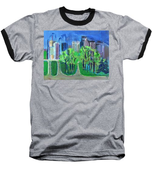 Baseball T-Shirt featuring the painting Campus by Betty Pieper