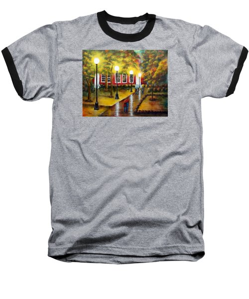 Campus Rain Baseball T-Shirt by Chris Fraser