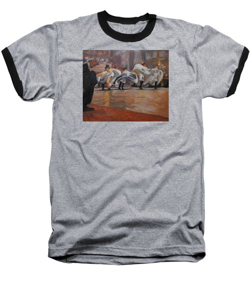 Baseball T-Shirt featuring the painting Can Can In The Moulin Rouge Paris by Nop Briex