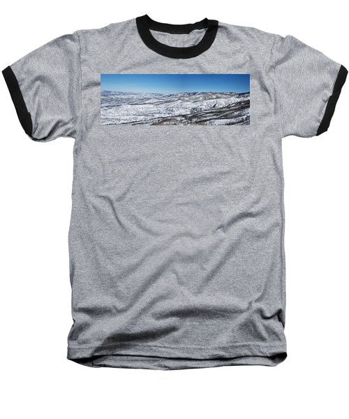 Can You Spot The Volcano Baseball T-Shirt by Sean Allen