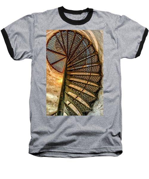 Cana Island Lighthouse Staircase Baseball T-Shirt