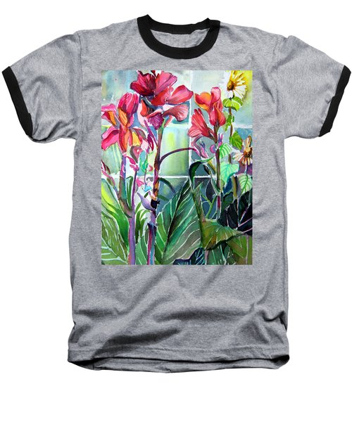Cana Lily And Daisy Baseball T-Shirt