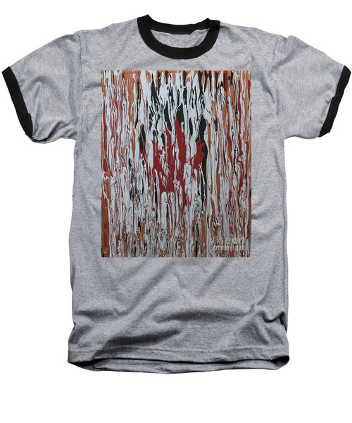 Baseball T-Shirt featuring the painting Canada Cries by Cathy Beharriell