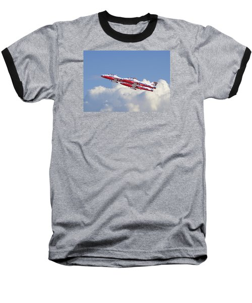 Baseball T-Shirt featuring the photograph Canadian Air Force Aerobatic Team - Snowbirds by Pat Speirs