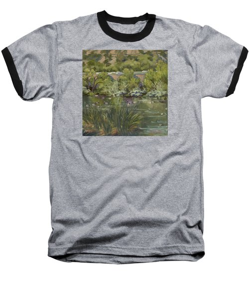 Canadian Geese La River Baseball T-Shirt by Jane Thorpe
