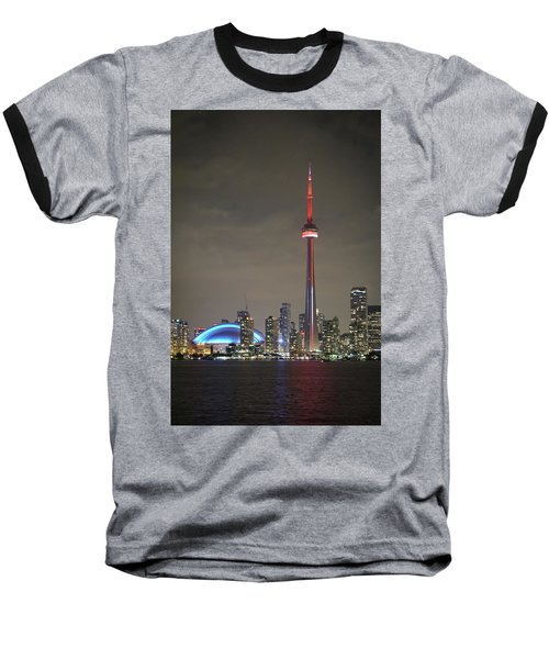Toronto Skyline Baseball T-Shirt