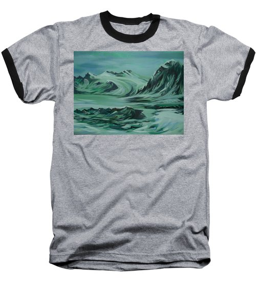 Baseball T-Shirt featuring the painting Canadian North by Anna  Duyunova