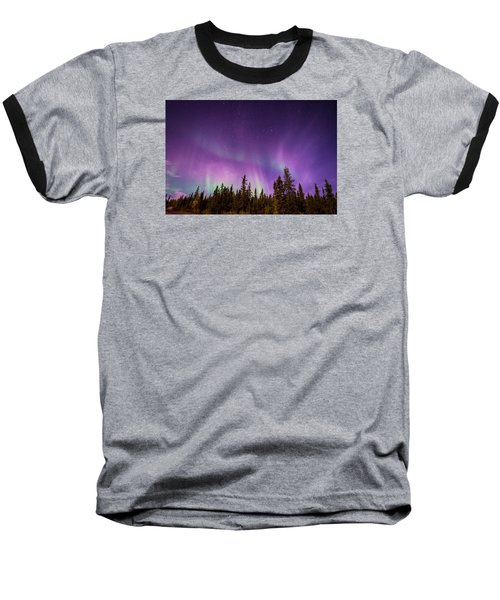 Baseball T-Shirt featuring the photograph Canadian Northern Lights by Serge Skiba
