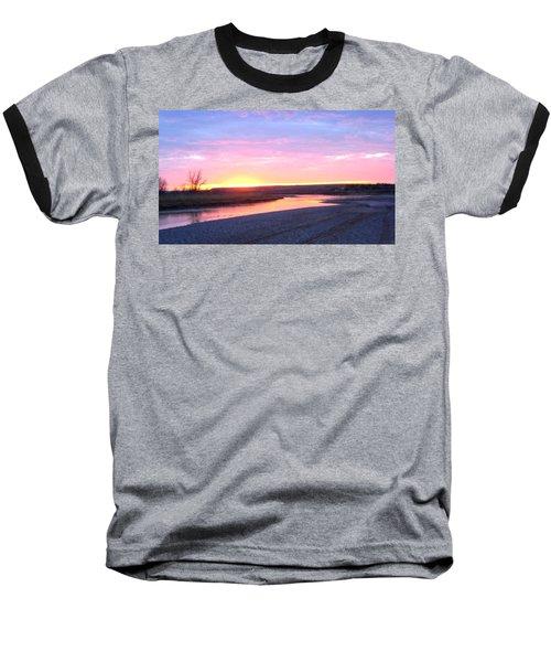 Canadian River Sunset Baseball T-Shirt
