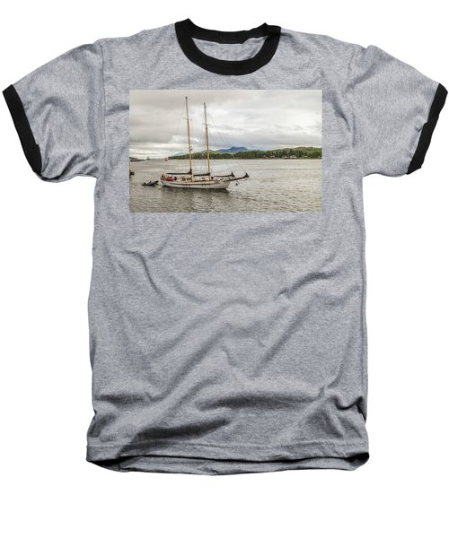 Canadian Sailing Schooner Baseball T-Shirt by Timothy Latta