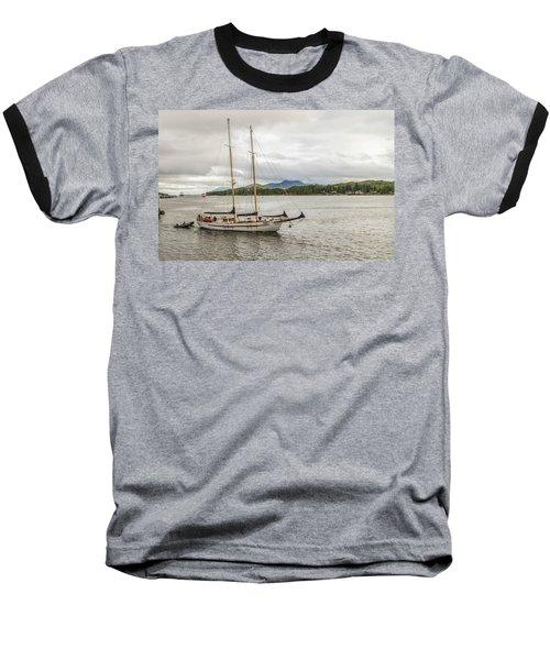 Canadian Sailing Schooner Baseball T-Shirt