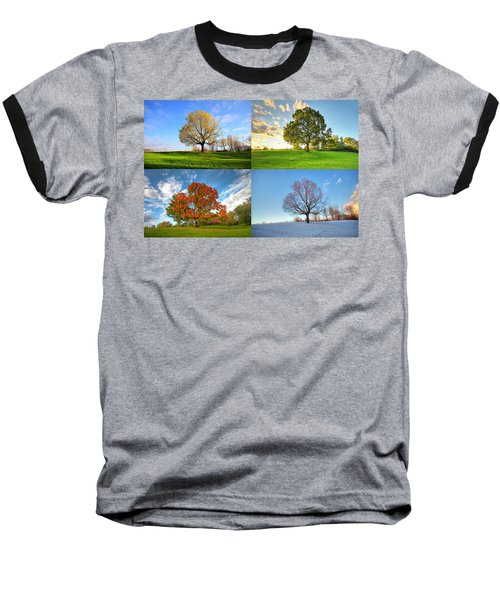 Canadian Seasons Baseball T-Shirt