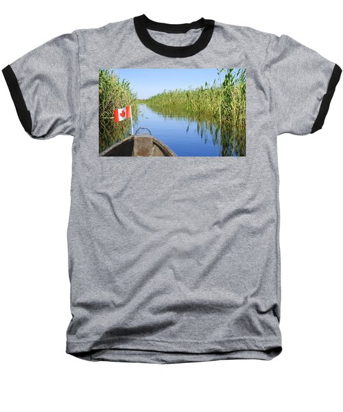 Canadians In Africa Baseball T-Shirt by Betty-Anne McDonald