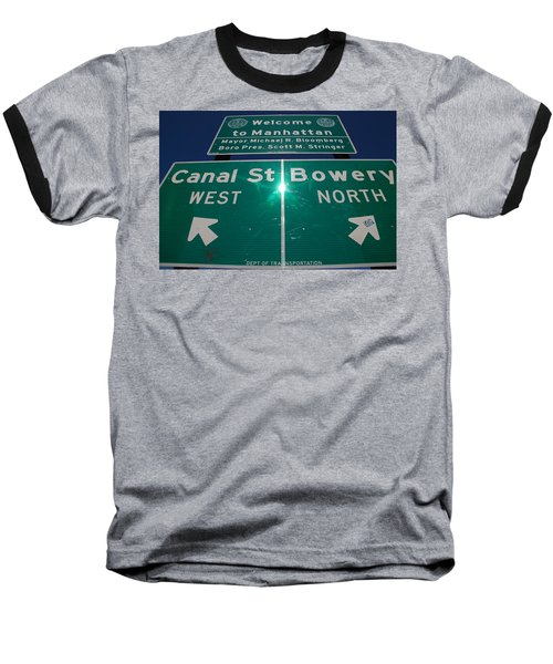 Canal And Bowery Baseball T-Shirt