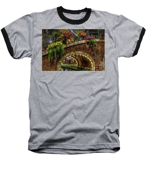 Canal And Bridge  Baseball T-Shirt by Sandy Moulder