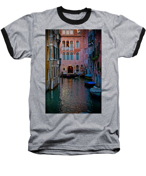 Canal At Dusk Baseball T-Shirt