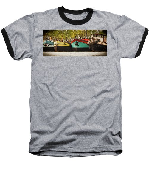 Canal Boats Baseball T-Shirt