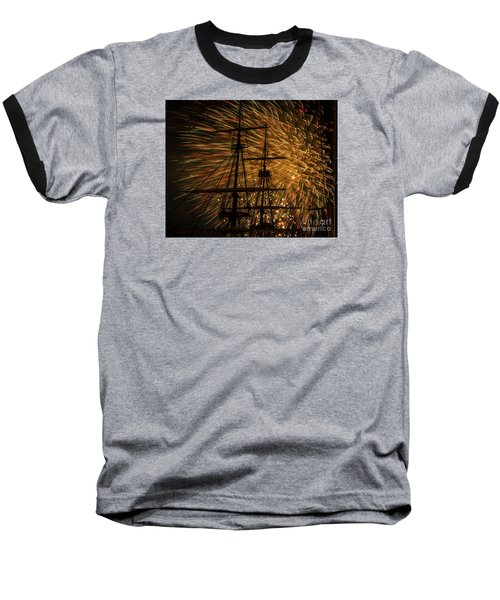 Baseball T-Shirt featuring the photograph Canal Day Fireworks Finale by JT Lewis