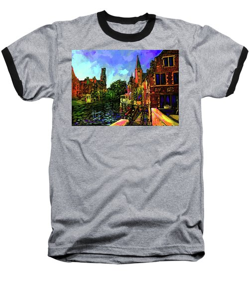 Canal In Bruges Baseball T-Shirt by DC Langer