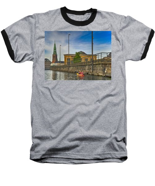 Canal Kayaking In Copenhagen Baseball T-Shirt