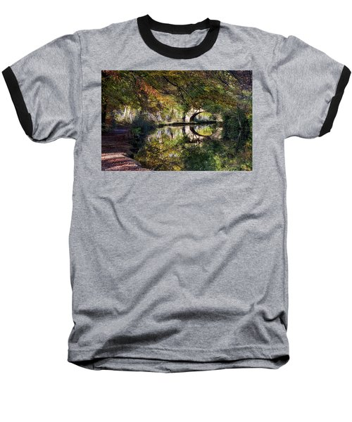 Canal Path In Autumn Baseball T-Shirt