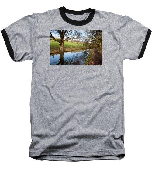 Canal Reflections Baseball T-Shirt by Helen Northcott